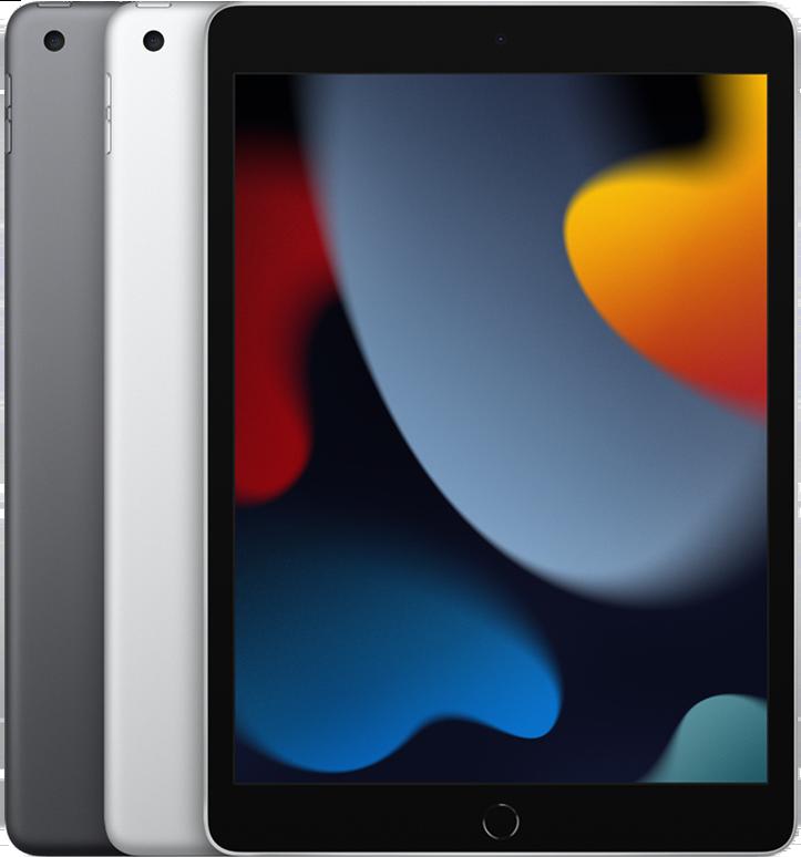 iPad 2021 kleuren in een stapel.