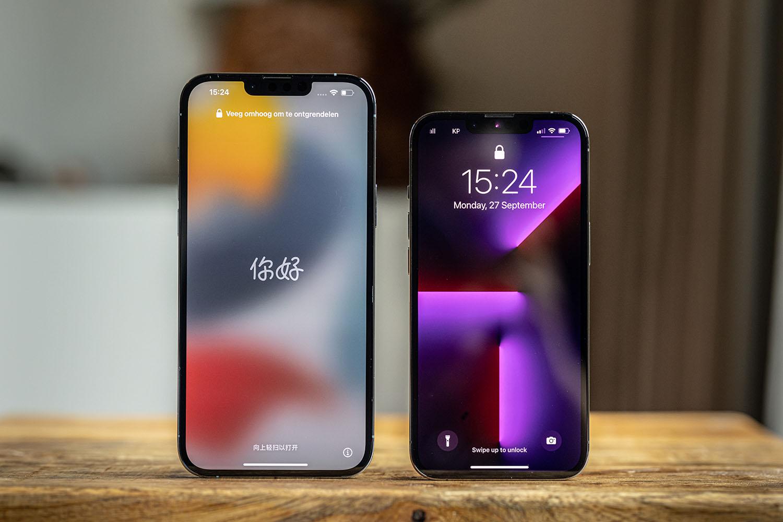 iPhone Pro-modellen staand