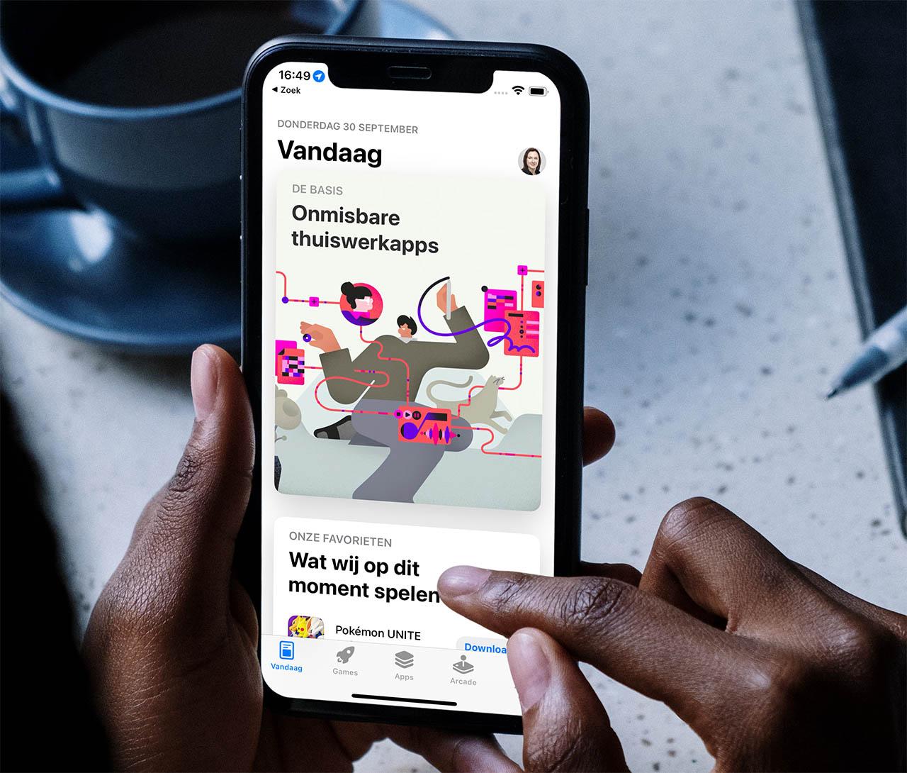 App Store op iPhone