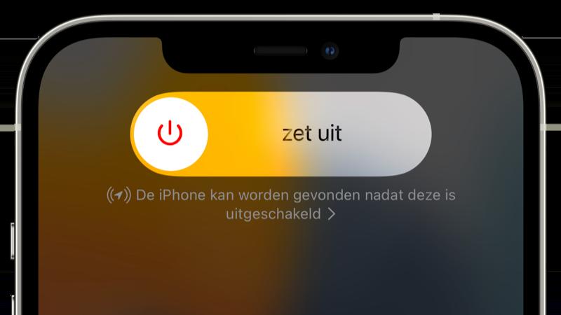 iPhone vinden na uitschakelen