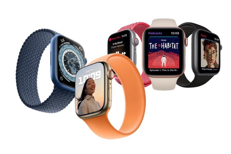 Apple Watch Series 7 vs Apple Watch Series 4.