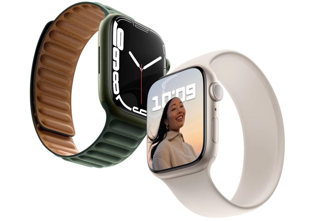 Apple Watch Series 7 preorder in aluminium (middernacht en sterrenlicht).