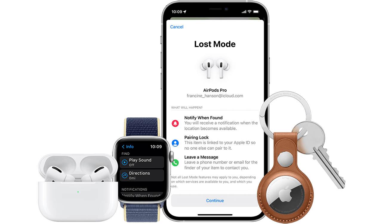 Zoek mijn AirPods en AirTag in iOS 15