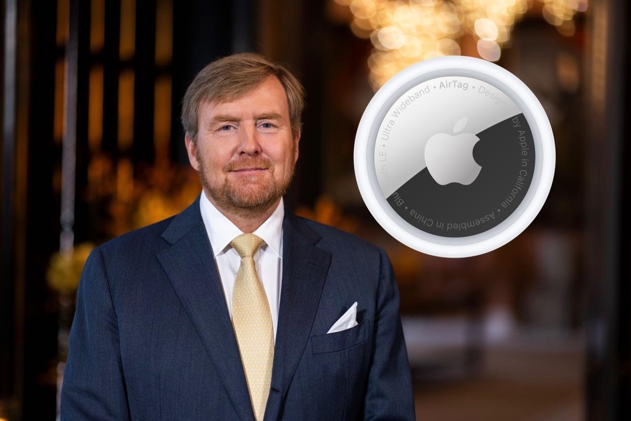 Koning Willem-Alexander en een AirTag