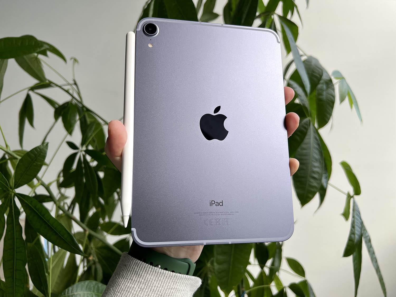 iPad mini 6 review: met de Pencil aan de zijkant wat lastigre in de hand te houden
