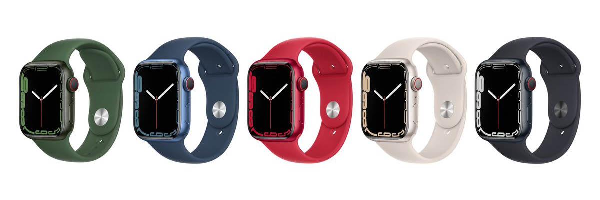 Apple Watch Series 7 standaard configuraties