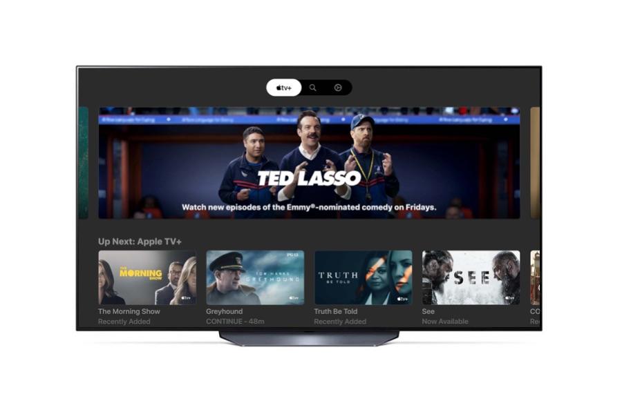 LG tv met Apple TV Plus app.