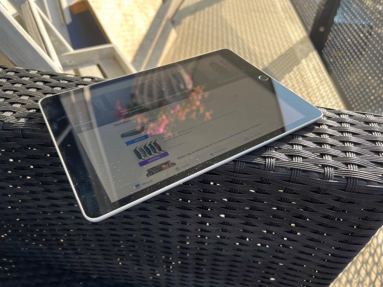iPad 2021: reflectie in het scherm.