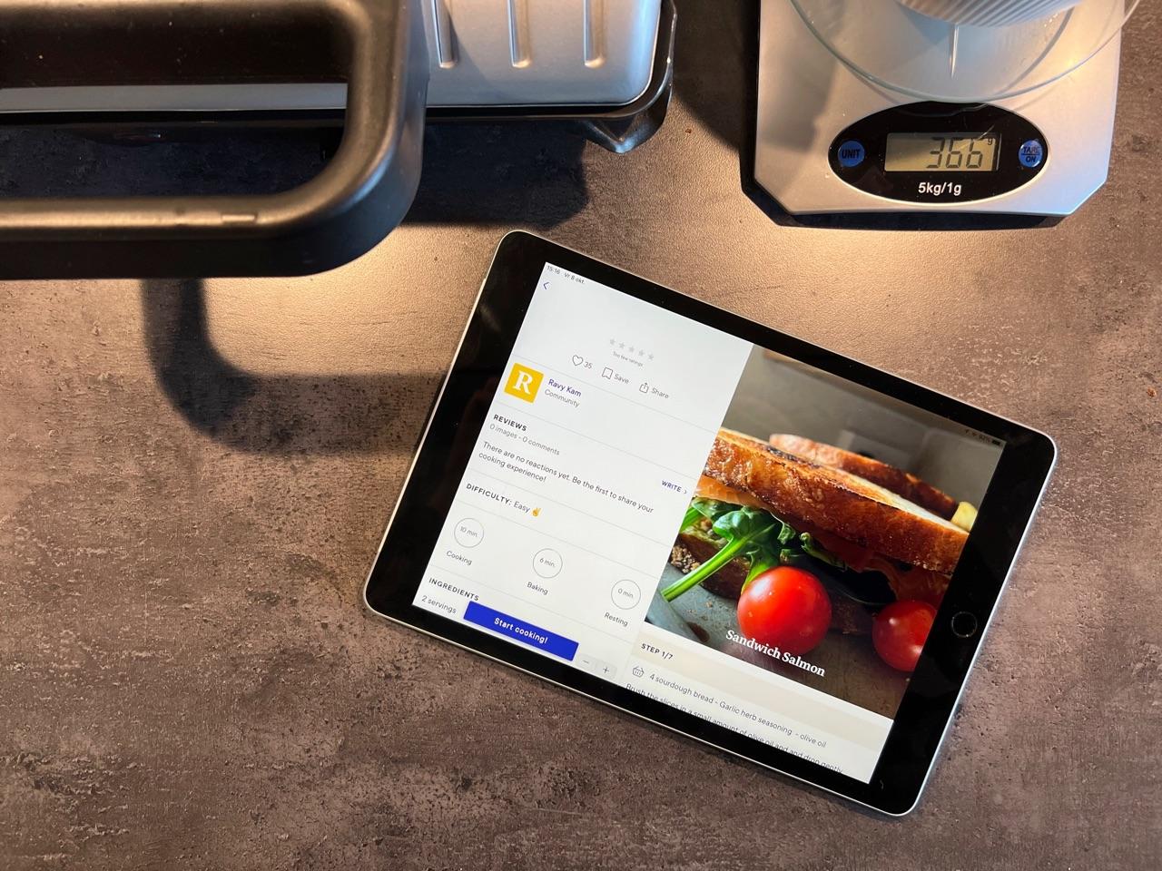 iPad 2021 in de keuken.