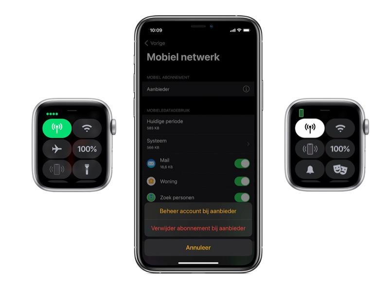 Instellingen Apple Watch Cellular/4G.