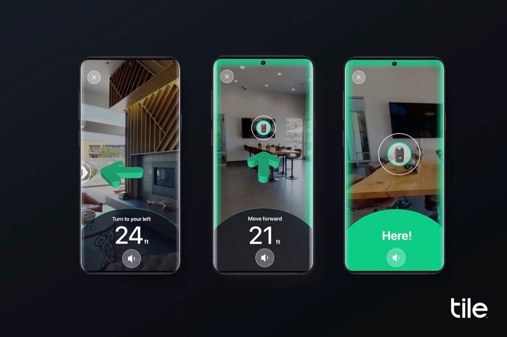 Tile Ultra met ultra-wideband en augmented reality.