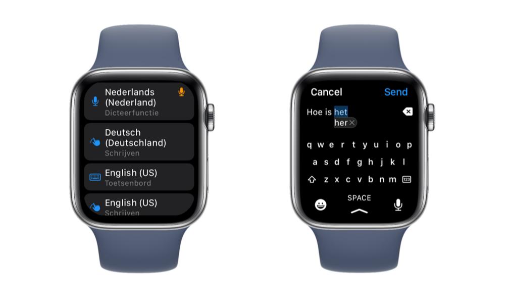 Apple Watch Series 7 toetsenbord in het Nederlands niet mogelijk.