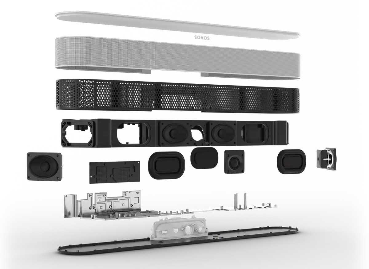 Sonos Beam 2 onderdelen.